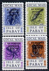 Pabay 1965 Europa (Crustaceans) set of 4 with Churchill overprint unmounted mint (Rosen PA33-36)