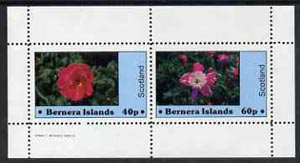 Bernera 1982 Flowers #06 perf  set of 2 values (40p & 60p) unmounted mint, stamps on flowers
