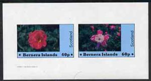 Bernera 1982 Flowers #06 imperf  set of 2 values (40p & 60p) unmounted mint