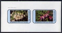 Eynhallow 1982 Flowers #08 (Fuschias) imperf  set of 2 values (40p & 60p) unmounted mint