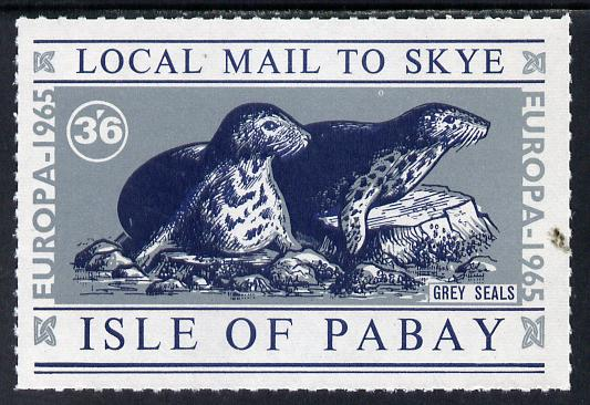 Pabay 1965 Europa (Seal) 3s6d value unmounted mint (Rosen PA22)