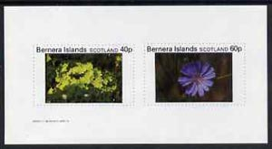 Bernera 1982 Flowers #07 imperf  set of 2 values (40p & 60p) unmounted mint