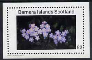 Bernera 1982 Flowers #07 imperf  se-luxe sheet (\A32 value) unmounted mint