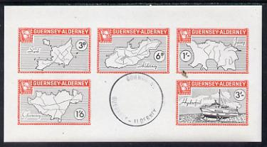 Guernsey - Alderney 1965 Maps imperf m/sheet containing the set of 5 with Commodore cancellation, Rosen CSA 40MS