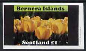 Bernera 1982 Flowers #08 (Tulips) imperf  souvenir sheet (�1 value) unmounted mint