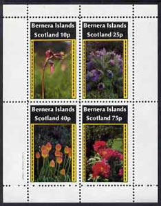 Bernera 1982 Flowers #09 perf  set of 4 values (10p to 75p) unmounted mint