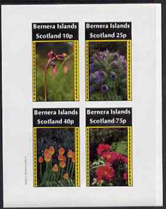 Bernera 1982 Flowers #09 imperf  set of 4 values (10p to 75p) unmounted mint