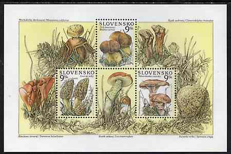Slovakia 1997 Mushrooms unmounted mint sheetlet containing 3 values
