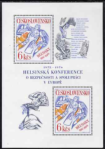 Czechoslovakia 1976 Security & Co-operation Conference unmounted mint m/sheet, SG MS 2297, Mi BL 33