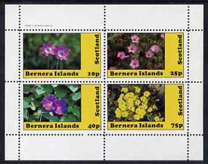 Bernera 1982 Flowers #10 perf  set of 4 values (10p to 75p) unmounted mint