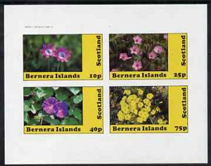 Bernera 1982 Flowers #10 imperf  set of 4 values (10p to 75p) unmounted mint