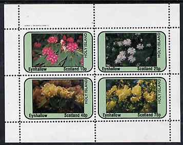 Eynhallow 1982 Flowers #09 perf  set of 4 values (10p - 75p) unmounted mint
