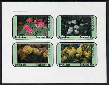 Eynhallow 1982 Flowers #09 imperf  set of 4 values (10p - 75p) unmounted mint