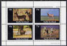 Staffa 1981 Animals (Deer, Zebras etc) perf  set of 4 values (10p to 75p) unmounted mint