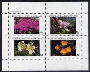 Bernera 1982 Flowers #11 perf  set of 4 values (10p to 75p) unmounted mint