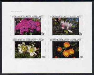 Bernera 1982 Flowers #11 imperf  set of 4 values (10p to 75p) unmounted mint