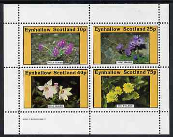 Eynhallow 1982 Flowers #10 perf  set of 4 values (10p - 75p) unmounted mint