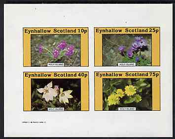 Eynhallow 1982 Flowers #10 imperf  set of 4 values (10p - 75p) unmounted mint
