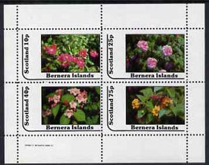 Bernera 1982 Flowers #12 perf  set of 4 values (10p to 75p) unmounted mint