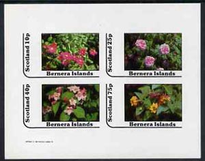 Bernera 1982 Flowers #12 imperf  set of 4 values (10p to 75p) unmounted mint