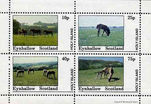 Eynhallow 1981 Horses #1 perf  set of 4 values (10p to 75p) unmounted mint