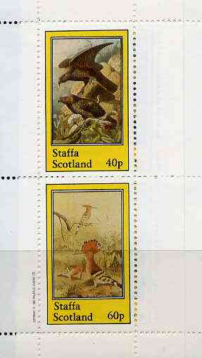 Staffa 1982 Birds #41 (Eagle & Hoopoe) perf set of 2 values (40p & 60p) unmounted mint