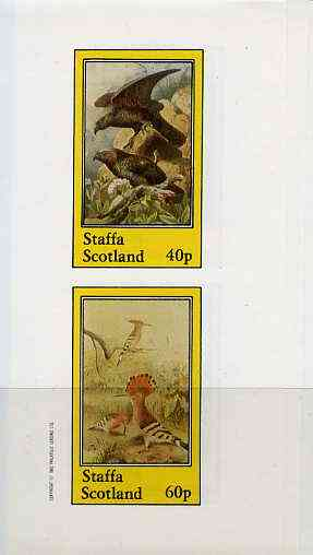 Staffa 1982 Birds #41 (Eagle & Hoopoe) imperf set of 2 values (40p & 60p) unmounted mint
