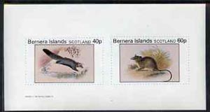 Bernera 1982 Rodents #3 imperf set of 2 values (40p & 60p) unmounted mint