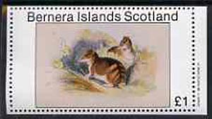 Bernera 1982 Rodents #3 imperf souvenir sheet (�1 value) unmounted mint
