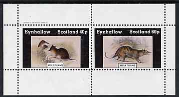Eynhallow 1982 Rodents perf set of 2 values (40p & 60p) unmounted mint