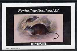 Eynhallow 1982 Rodents imperf deluxe sheet (�2 value) unmounted mint
