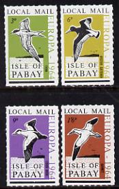Pabay 1964 Europa (Birds) rouletted set of 4 unmounted mint (Rosen PA12-15)