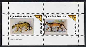 Eynhallow 1982 Wild Cats #2 perf  set of 2 values (40p & 60p) unmounted mint