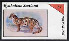 Eynhallow 1982 Wild Cats #2 imperf  souvenir sheet (�1 value) unmounted mint