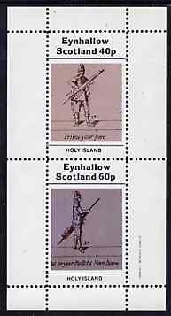 Eynhallow 1982 Shooting perf set of 2 (40p Priming & 60p Inserting Bullet) unmounted mint