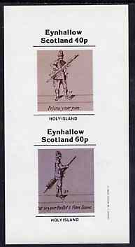 Eynhallow 1982 Shooting imperf set of 2 (40p Priming & 60p Inserting Bullet) unmounted mint