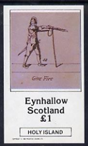 Eynhallow 1982 Shooting imperf souvenir sheet (�1 value Ready To Fire) unmounted mint