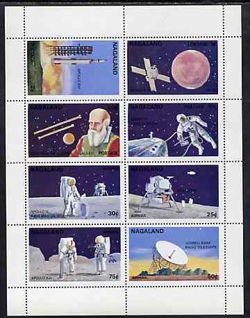Nagaland 1972 Space complete perf set of 8 unmounted mint