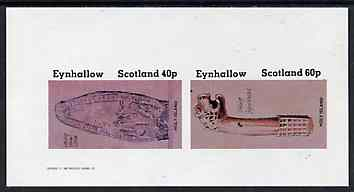 Eynhallow 1982 Viking Antiqueties imperf set of 2 (40p Viking Tomb Stone & 60p Figurehead) unmounted mint