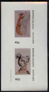 Bernera 1982 Animals imperf  set of 2 values (40p Red Squirrel & 60p Grey Squirrel) unmounted mint