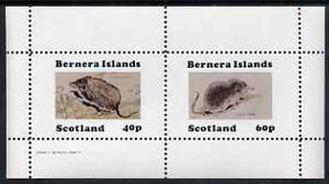 Bernera 1982 Shrews perf set of 2 (40p Water Shrew & 60p Pygmy Shrew) unmounted mint, stamps on animals       shrews