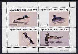 Eynhallow 1981 Ducks #4 perf  set of 4 values (10p to 75p) unmounted mint