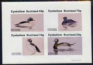 Eynhallow 1981 Ducks #4 imperf  set of 4 values (10p to 75p) unmounted mint
