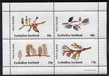 Eynhallow 1981 Trees (Fruits & Berries) perf  set of 4 values (10p to 75p) unmounted mint