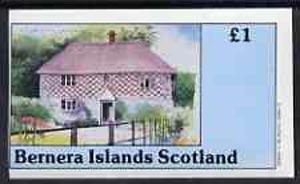 Bernera 1982 Architecture imperf souvenir sheet (�1 value 18th Century House) unmounted mint