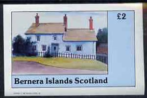 Bernera 1982 Architecture imperf deluxe sheet (�2 value 17th Century House) unmounted mint