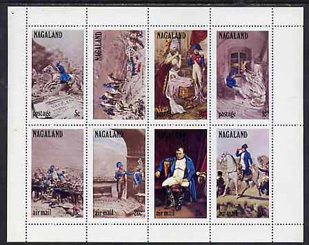 Nagaland 1972 Napoleon perf set of 8 values complete unmounted mint