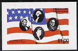 Eynhallow 1976 USA Bicentenary (US Presidents & Flag) imperf souvenir sheet unmounted mint