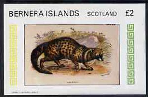 Bernera 1982 African Civet imperf deluxe sheet (�2 value) unmounted mint