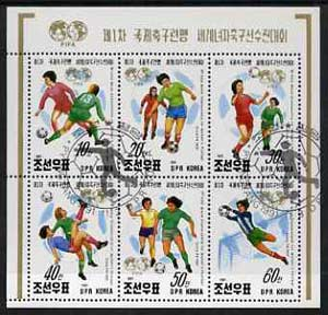 North Korea 1991 Women's World Football Championships sheetlet containing set of 6 fine cto used, SG N3102-07